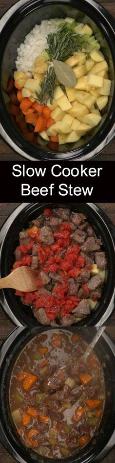 Crock pot beef stew Crock Pot Slow Cooker, Crock Pot Cooking, Slow Cooker Recipes, Crockpot Recipes, Soup Recipes, Beef Stew Crockpot Easy, Lamb Recipes, Dinner Recipes, Dinner Ideas