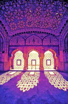 None of the meditation mumbo jumbo. Just travel. Amber Palace, Rajasthan, India.