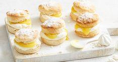 Swap your regular scones for something a bit different: this easy, retro recipe inspired by lemon meringue pie.