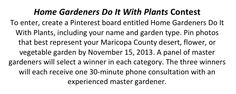 Pin photos of your garden to enter the first Home Gardeners Do It With Plants contest.