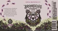 mybeerbuzz.com - Bringing Good Beers & Good People Together...: Odell Brombeere Blackberry Gose Returns In 12oz Ca...