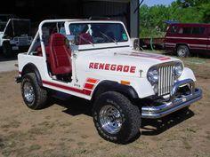 Jeep Wrangler Renegade. Love the stripes.