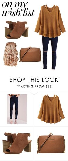 """""""#PolyPresents: Wish List"""" by nataliehutch77 ❤ liked on Polyvore featuring WithChic, CL by Laundry, MICHAEL Michael Kors, contestentry and polyPresents"""