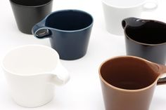 Stamug is a minimalist design created by Osaka-based firm Metaphys. This stackable mug is the newest edition to Metaphys' collection of porcelain wares. The project was conceived due to the impractical and space-consuming designs of traditional mugs. Having limited horizontal space within the cupboard, vertical stacking was the most viable solution for saving space.