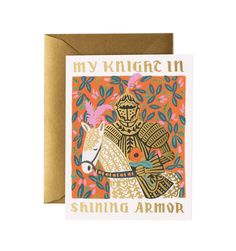 Knight in Shining Armor Available as a Single Folded Card or Boxed Set of 8