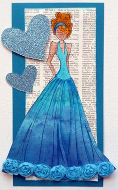 Prima Doll stamp -Google Search - Love the blue color and how it is laid out.