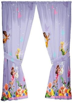 Disney Microfiber Fairies Hummingbird Curtain Panels, Set of 2