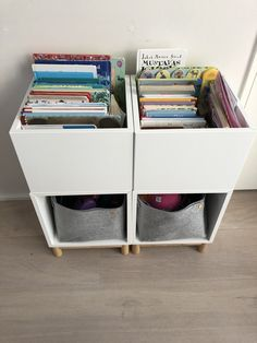 IKEA hack - I wanted a book case easy for the kids to flip through the books, bu. IKEA hack - I wanted a book case easy for the kids to flip through the books, but with limited space in the room I d Ikea Hack Kids, Ikea Kids Room, Ikea For Kids, Ikea Playroom, Ikea Hack Kitchen, Baby Zimmer Ikea, Ikea Hack Bedroom, Ikea Eket, Office Home