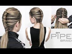 Pipe Braid DIY – Single Infinity Braid – EASY Related posts: Day 3 hair by angel ?♀️ Hansen & Gretel ready ❤️ Quick and Easy -> Long Hair Tutorials! Diy Braids, Twist Braids, Cool Braids Easy, Braids Cornrows, Crown Braids, Fulani Braids, Ghana Braids, Dutch Braids, Fishtail Braids