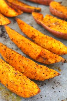 A delicious and simple recipe, these easy spiced herb roasted sweet potato wedges are a great and healthier alternative to chips or fries!