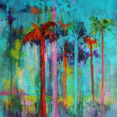 Miami Heat, Contemporary Landscape Paintings by Arizona Artist Amy Whitehouse - Original Fine Art for Sale - © Amy Whitehouse