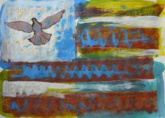 """Saatchi Art Artist MISHA DONTSOV; Painting, """"Imaginary Flag """" #art"""