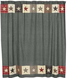 Americana Shower Curtain Bathroom Kitchen Primitive Curtains Bathrooms Country