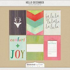 Hello December Journal Card Add-ons