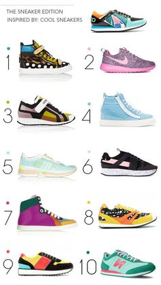 Number 5 - adidas by Stella McCartney - is my favorite pair. Which is yours?