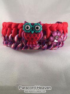 Allison the Owl - Children Paracord Heaven Survival Bracelet with Knot Closure - Paracord Heaven