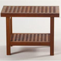 Grate Teak Shower Bench with Shelf by Aqua Teak | 339