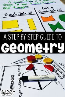 I Have to Teach Geometry. a step by step guide to teaching shapes. Teaching 5th Grade, Teaching Jobs, First Grade Math, Second Grade, Fourth Grade, Teaching Ideas, New Teachers, Elementary Teacher, School Teacher