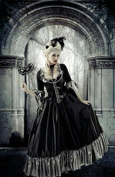 Victorian goth masquerade