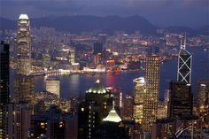 hongkong city skyline at night