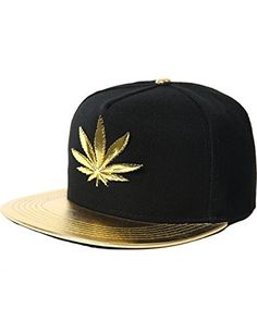 MARIJUANA LEAF ADDICTED WEED CANNABIS POT FLAT BILL SNAPBACK BASEBALL CAP HAT