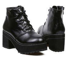 wholesale Cheap ankle boots thick heel platform foam sole shoes CZ-4231