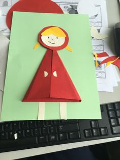 Fairy tales: Little Red Riding Hood, handicrafts - DONE . Fairy Tale Activities, Preschool Crafts, Preschool Activities, Projects For Kids, Crafts For Kids, Arts And Crafts, Paper Crafts, Diy Paper, Fairy Tale Crafts