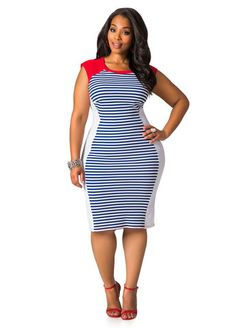 Plus Size Body Con Dress