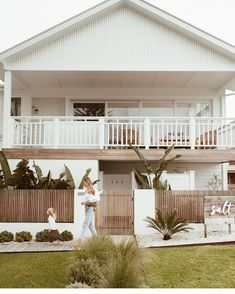 and her sweet tribe shooting at Salt for ✨😍 . Style At Home, Interior Exterior, Exterior Design, Exterior Colors, Exterior Paint, Dream House Exterior, Beach House Exteriors, Facade House, House Goals
