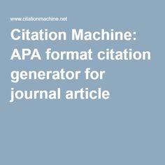 google mla citation generator