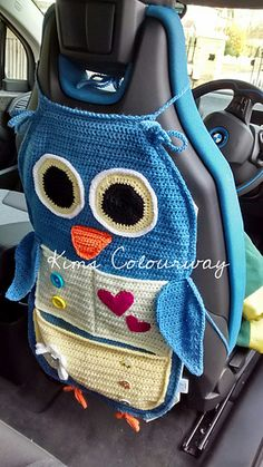 Owl Treasure Organiser pattern by Tatsiana Matsiuk : Crochet Car, Crochet Owls, Crochet Home, Crochet Gifts, Baby Blanket Crochet, Crochet For Kids, Easy Crochet, Crochet Stitches, Crotchet
