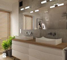 Dom pod Warszawą 160 m2 - Łazienka, styl skandynawski - zdjęcie od Grafika i Projekt architektura wnętrz