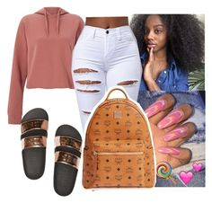 """""""Untitled #2213"""" by therealslimm ❤ liked on Polyvore featuring Miss Selfridge and MCM"""