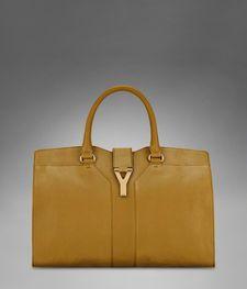 Medium YSL Cabas Chyc in Saffron Leather