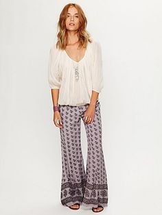 Free People wide legged comfy pant