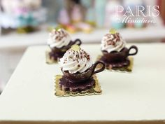 CreamFilled Chocolate Cup Cake  French Pastry by ParisMiniatures, $18.00