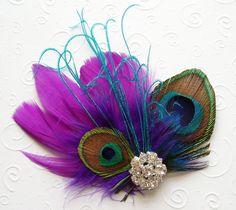 purple fascinator - Google Search