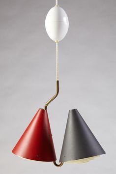 Ceiling lamp, anonymous. Denmark. 1950's. — Modernity