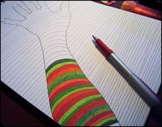 Draw Doodle and Decorate: Optical Illusion Hand. Sub activity?
