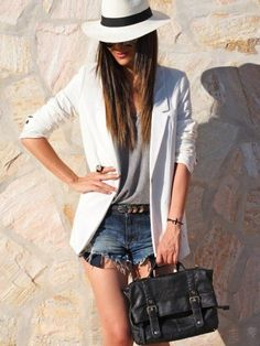 10 Fashionable Summer Outfit Ideas with a Hat by OrellaStyle