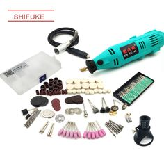 190pcs Dremel Style Electric Rotary Tool Variable Speed Mini Drill Grinder DIY Electric Hand Drill Machine Stone Cutting