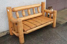 Cedar Log Furniture Plans | log bench outdoor bench with cedar seat log table laminate