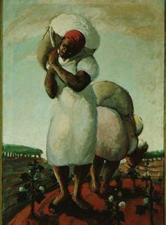 Negro Cotton Pickers - c. African American Art, American Artists, African Art, Harlem Renaissance Artists, Cotton Fields, 10 Picture, Black Artists, Art Moderne, Black Power