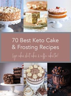 If you've been searching for the best keto cake recipes to be found online for free, then this collection of the 70 best keto cakes AND frostings is going to make your day! Keto cakes for every o Cake Frosting Recipe, Frosting Recipes, Cake Recipes, Keto Recipes, Dessert Recipes, Ketogenic Recipes, Sour Cream Chocolate Cake, Sour Cream Cake, Pumpkin Bundt Cake