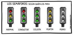 Los semáforos no son igual para todo el mundo