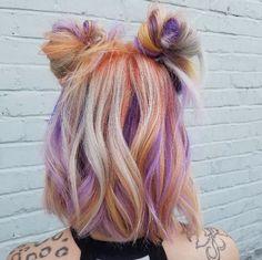 Inspiring Pastel Hair Color Ideas – My hair and beauty Pulp Riot Hair Color, Dye My Hair, Mermaid Hair, Crazy Hair, Pretty Hairstyles, Bun Hairstyles, Hair Inspiration, Short Hair Styles, Hair Cuts