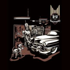 """CC Search """"T-shirt Tuesday: One of my favorite pieces from that time that @the.max.fish turned me loose to 'do my thing'. #drawingcars #tshirt #illustration #art #robots #retrofuture #kustom #cadillac"""" by Studio PCK is licensed under CC BY-NC-ND 2.0 Retro Futurism, Reuse, The Past, Darth Vader, Kustom, My Favorite Things, Studio, Cadillac, Drawings"""