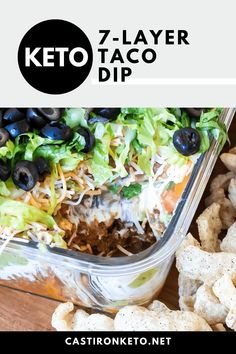 Healthy Low Carb Recipes, High Protein Recipes, Ketogenic Recipes, Healthy Fats, Keto Recipes, Healthy Eating, 7 Layer Taco Dip, Layered Taco Dip, Layer Dip