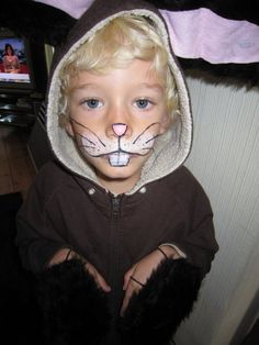 Simple rabbit costume and face paint