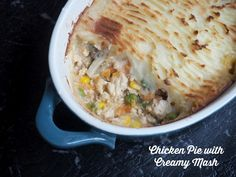 This Chicken Pie recipe uses the Thermomix to make the ultimate creamy mash topping. Make a big batch to please a crowd, or try making it in individual pots for a cute dinner for two. Greek Recipes, Paleo Recipes, Cooking Recipes, Pie And Mash, Bellini Recipe, Creamy Mash, Savoury Dishes, Main Meals, Chicken Recipes